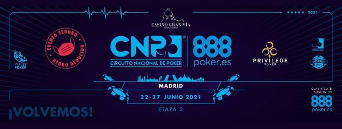 ¡Vuelven los grandes torneos en vivo con el regreso del CNP888 en Madrid!