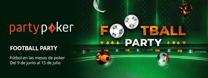 Disfruta de Football Party del 9 de junio al 15 de julio en partypoker.es