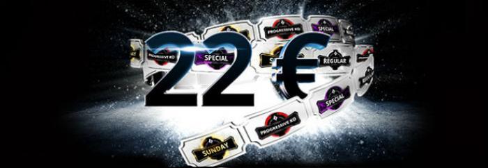 Regístrate en PartyPoker.es, deposita y llévate 22€ para torneos
