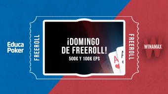 Cada semana repartimos 500 € y 100.000 EPs en el freeroll exclusivo de EducaPoker y Winamax