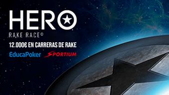 12.000 € a repartir en abril'21 con Hero Rake Race de Sportium y EducaPoker