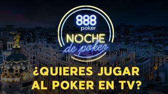 Hoy se reparte el primer asiento exclusivo para Noche de Poker de 888poker.es