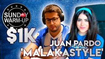 "MTT Project: Juan Pardo ""Malakastyle"" analiza junto a ""FROGY"" el $1k ""Warm-up"" de Pokerstars"