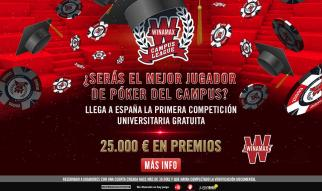 Gradúate en la Winamax Campus League y consigue una parte de los 25.000 € en premios