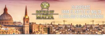Clasifícate para el Battle of Malta con Winamax