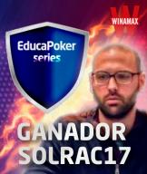 """""""solrac17"""" se proclama vencedor de las EducaPoker Series tras una última jornada de infarto"""